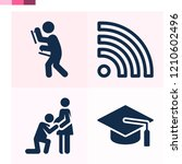 contains such icons as wifi...   Shutterstock .eps vector #1210602496