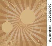happy christmas retro greeting...   Shutterstock .eps vector #1210603090