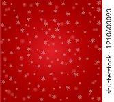 snowflakes on red festive... | Shutterstock .eps vector #1210603093