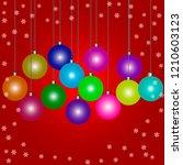 christmas background design...   Shutterstock .eps vector #1210603123