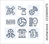 simple set of 9 icons related... | Shutterstock .eps vector #1210604473