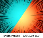 comic duel bright template with ... | Shutterstock .eps vector #1210605169