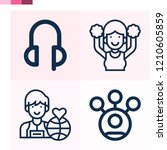 contains such icons as user ... | Shutterstock .eps vector #1210605859