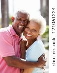 romantic senior couple hugging...   Shutterstock . vector #121061224