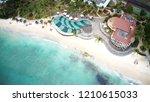 aerial of wonderful beach... | Shutterstock . vector #1210615033