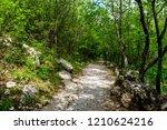 empty trekking hiking road... | Shutterstock . vector #1210624216