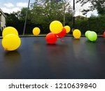 balloons of colors  red  yellow ...   Shutterstock . vector #1210639840