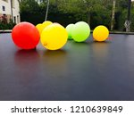 balloons of colors  red  yellow ...   Shutterstock . vector #1210639849