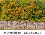 gabion fence wall  from  steel... | Shutterstock . vector #1210642639