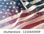 blue monochrome grungy american ... | Shutterstock . vector #1210643509