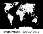 world map. political map of the ... | Shutterstock .eps vector #1210647019