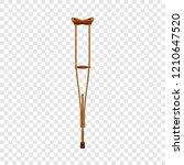 wood crutch icon. realistic...   Shutterstock .eps vector #1210647520