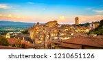 anghiari italian medieval... | Shutterstock . vector #1210651126