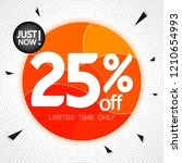 sale 25  off  banner design... | Shutterstock .eps vector #1210654993