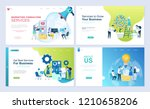 set of landing page template... | Shutterstock .eps vector #1210658206