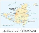 road vector map of sint marteen ... | Shutterstock .eps vector #1210658650