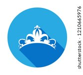 diadem icon with long shadow.... | Shutterstock . vector #1210665976