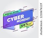 cyber monday flat gradient... | Shutterstock .eps vector #1210676119