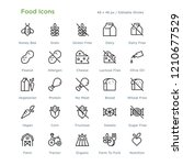 food icons   outline styled... | Shutterstock .eps vector #1210677529