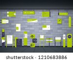 a set of signboards for... | Shutterstock .eps vector #1210683886