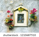 beautiful altar in street with... | Shutterstock . vector #1210687510