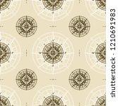 seamless vintage nautical... | Shutterstock .eps vector #1210691983