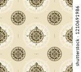 seamless vintage nautical... | Shutterstock .eps vector #1210691986