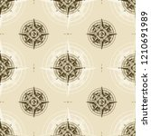 seamless vintage nautical wind... | Shutterstock .eps vector #1210691989