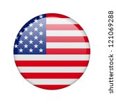 the usa flag in the form of a... | Shutterstock . vector #121069288