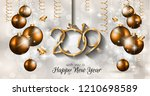 2019 happy new year background... | Shutterstock .eps vector #1210698589