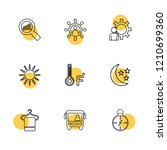 set of 9 icons  for web ... | Shutterstock .eps vector #1210699360