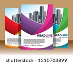 cover brochure layout annual...   Shutterstock .eps vector #1210703899
