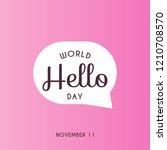 world hello day design template....   Shutterstock .eps vector #1210708570