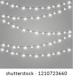 christmas lights isolated... | Shutterstock .eps vector #1210723660