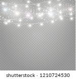 christmas lights isolated... | Shutterstock .eps vector #1210724530