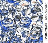 watercolor seamless pattern...   Shutterstock . vector #1210732030