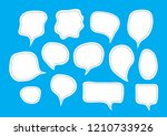 vector bubbles speech set. hand ... | Shutterstock .eps vector #1210733926