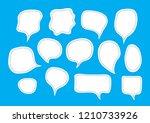vector bubbles speech set. hand ... | Shutterstock .eps vector #1210733926