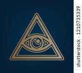 all seeing eye pyramid symbol.... | Shutterstock .eps vector #1210735339