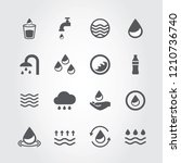 water icons set isolated on... | Shutterstock .eps vector #1210736740