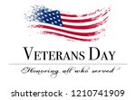veterans day background with... | Shutterstock . vector #1210741909