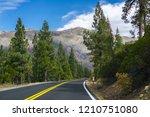 driving through the sierra... | Shutterstock . vector #1210751080