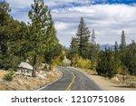 driving through the sierra... | Shutterstock . vector #1210751086