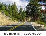 driving through the sierra... | Shutterstock . vector #1210751089
