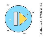 arrows icon design vector | Shutterstock .eps vector #1210752196
