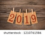 new year 2019 concept clipped...   Shutterstock . vector #1210761586