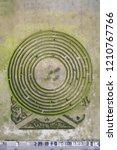 aerial view of green maze garden   Shutterstock . vector #1210767766