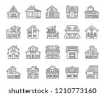 house thin line icon set.... | Shutterstock .eps vector #1210773160