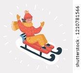 vector cartoon illustration of... | Shutterstock .eps vector #1210781566