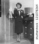 filing away | Shutterstock . vector #121078264